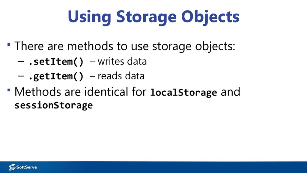 Using Storage Objects