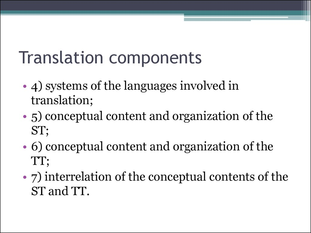 Translation components