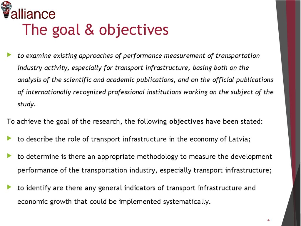 Transport infrastructure development performance - online presentation