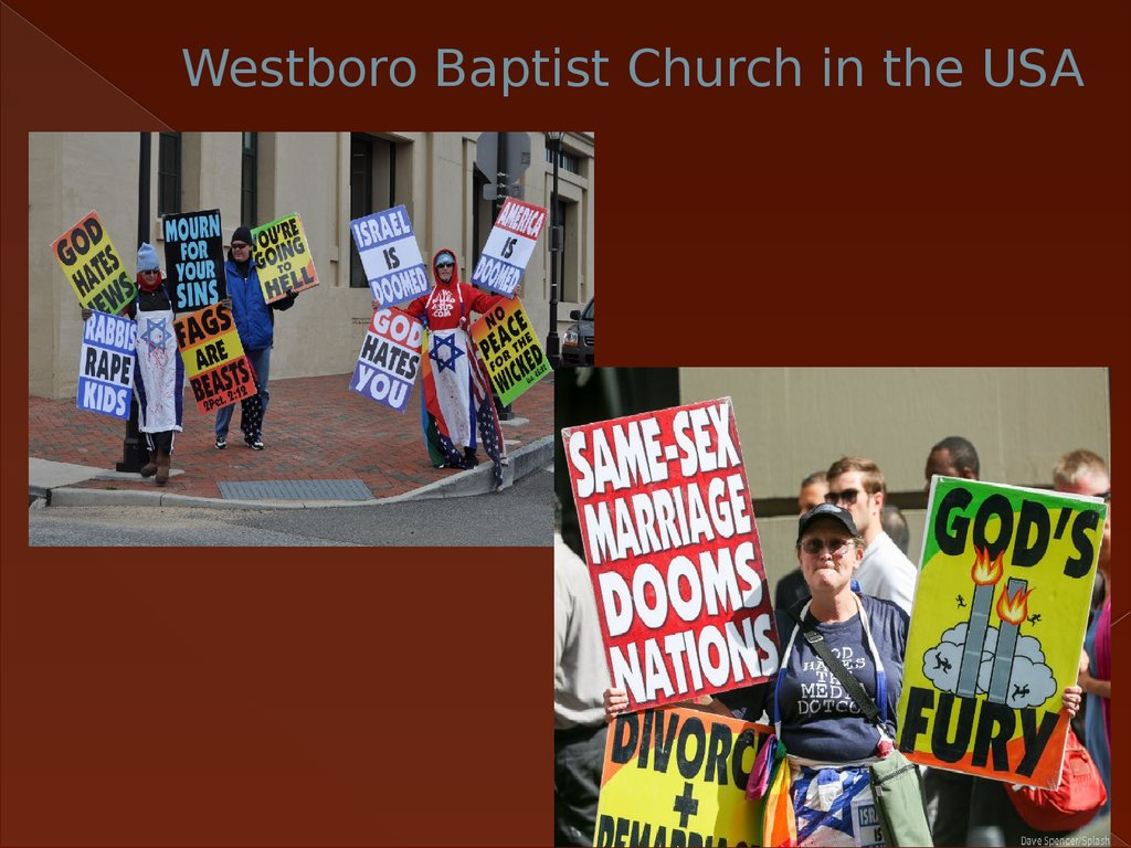 Westboro Baptist Church in the USA