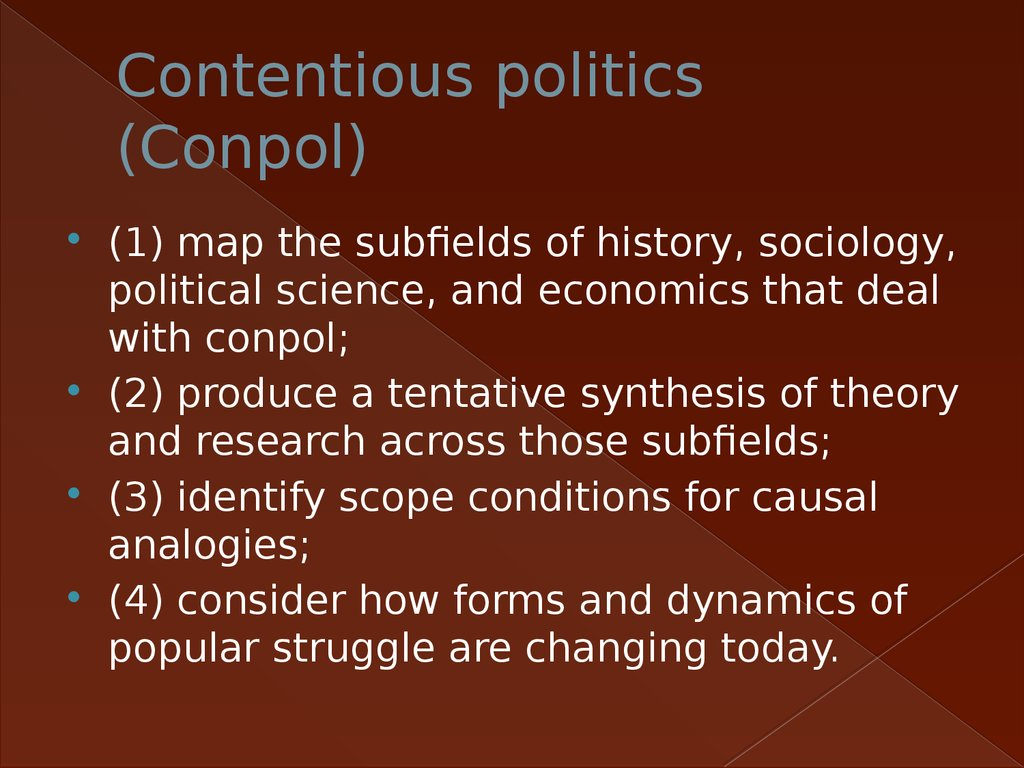 Contentious politics (Conpol)