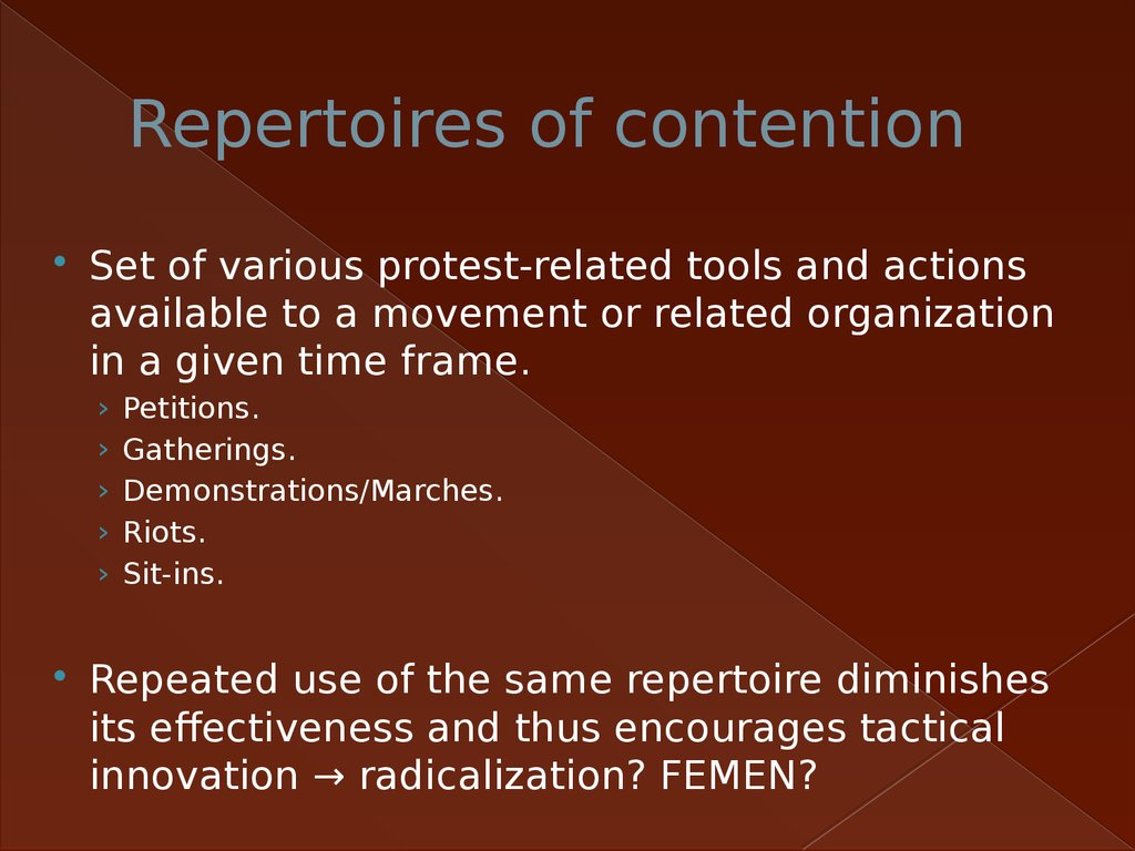 Repertoires of contention