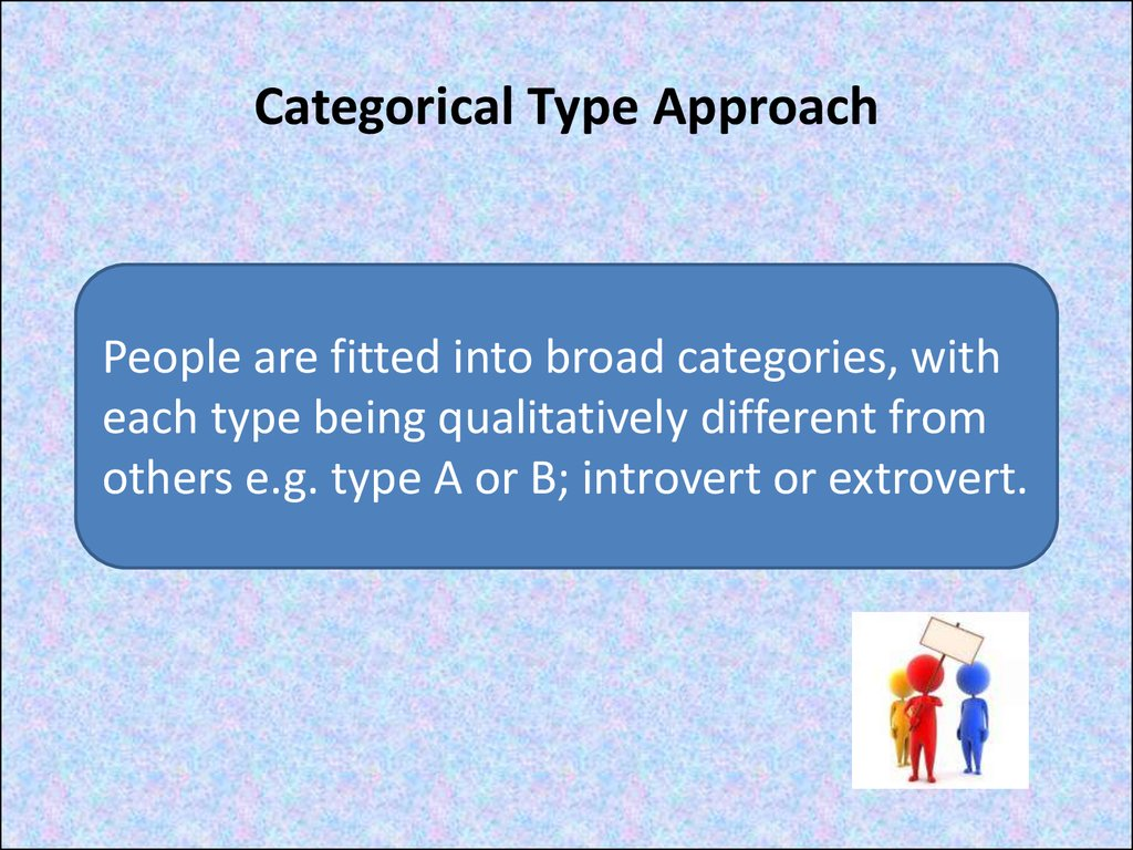 Categorical Type Approach
