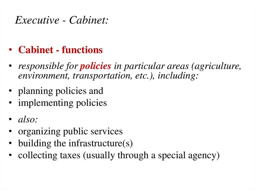 Executive - Cabinet: