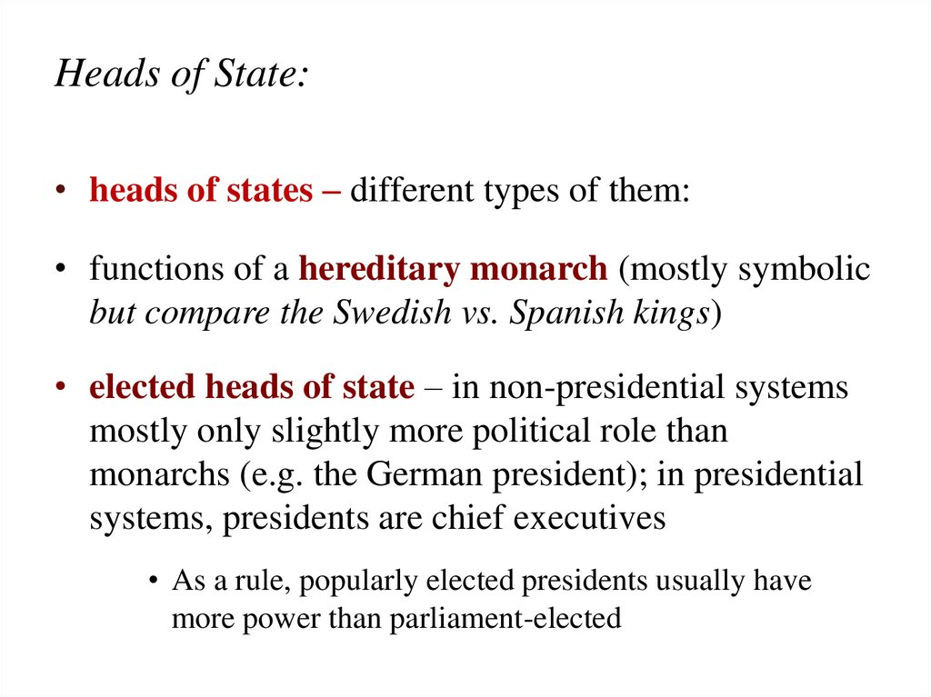 Heads of State: