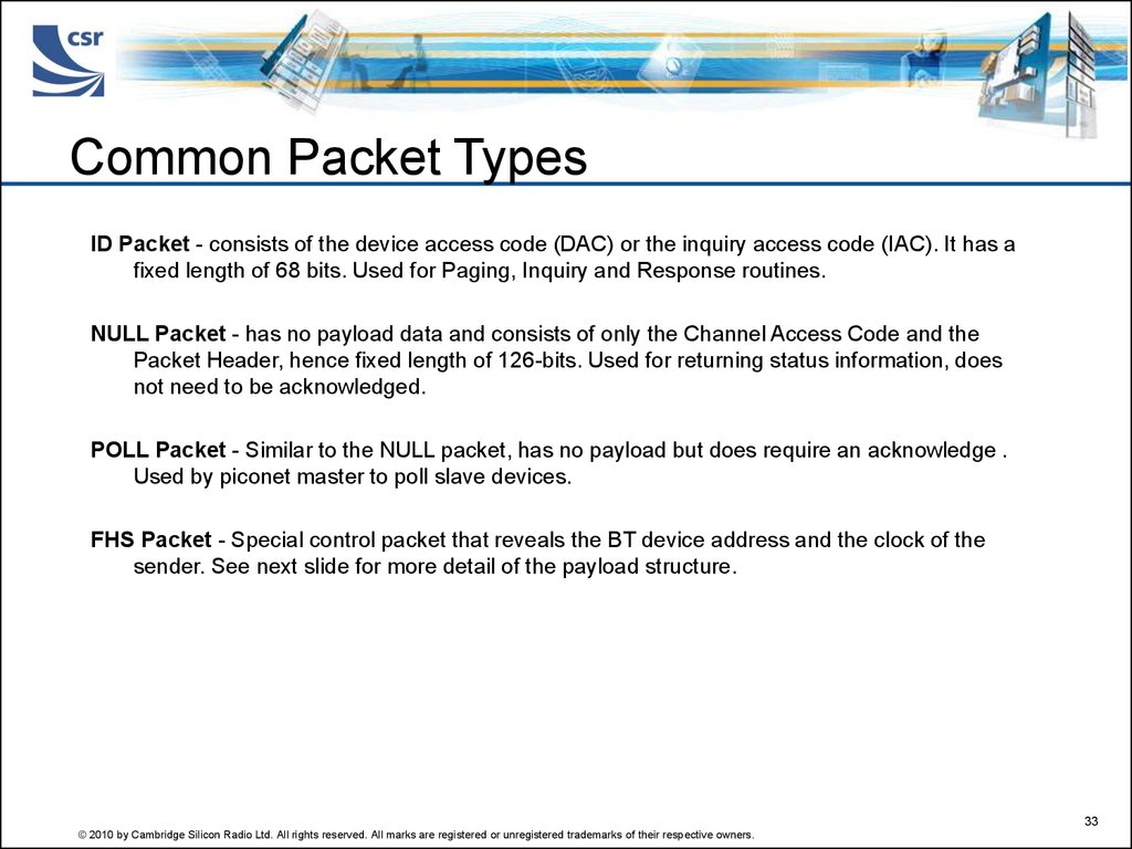 Common Packet Types