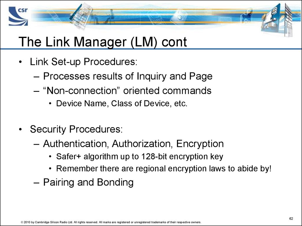 The Link Manager (LM) cont