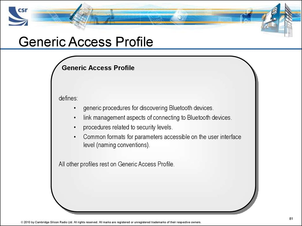 Generic Access Profile