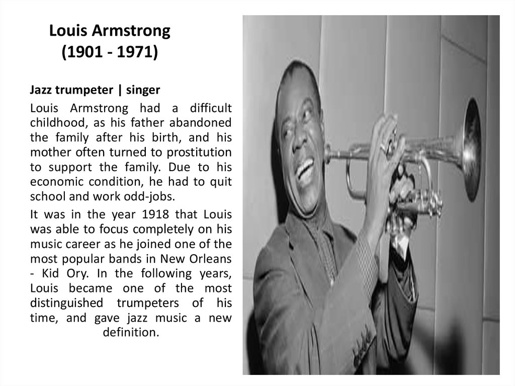 Louis Armstrong (1901 - 1971)