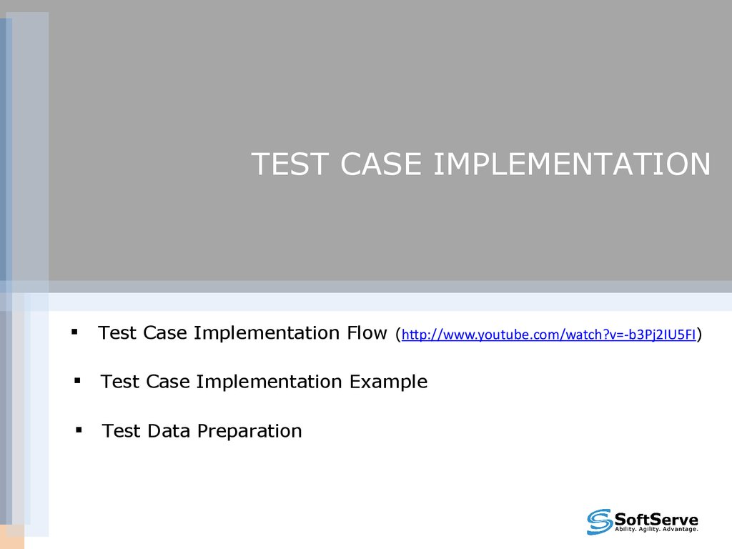 Test cases overview v.1.5 - online presentation