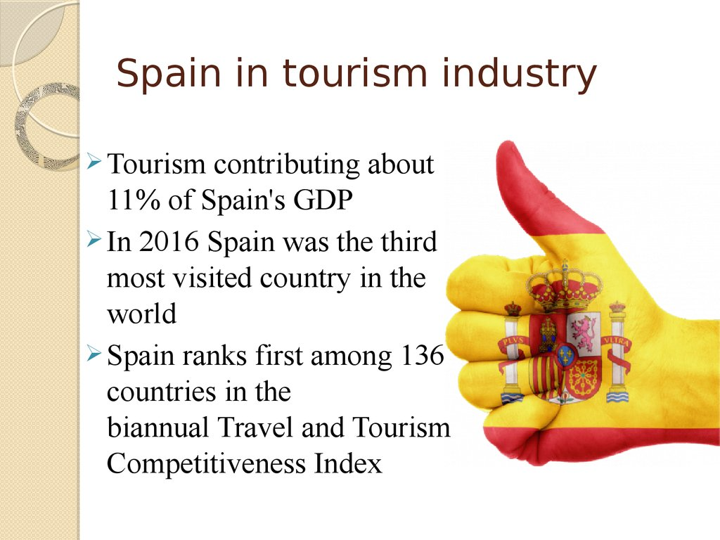 the tourism industry in spain The tourism and hospitality industry is a pillar of the spanish economy in 2011  synthetic  thus, spain, catalonia and barcelona are tourist destinations with a .