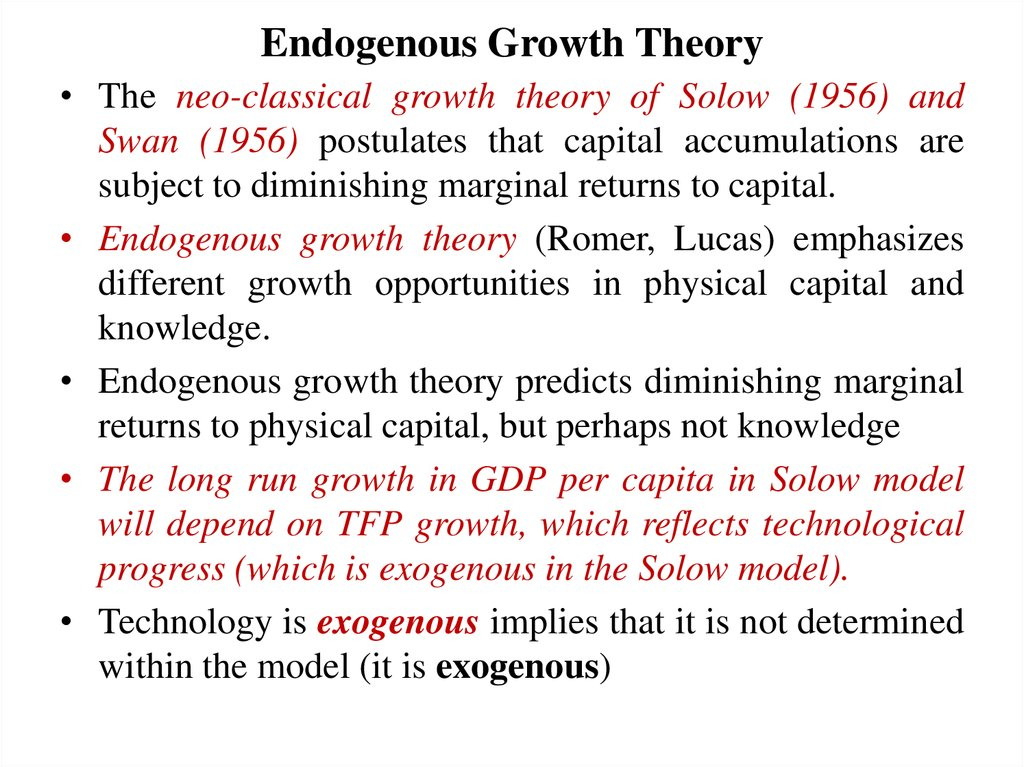 understanding the growth theory by solow economics essay A critical essay on modern macroeconomic theory, vol 1 landmark papers in economic growth selected by robert m solow books, edward elgar publishing view.
