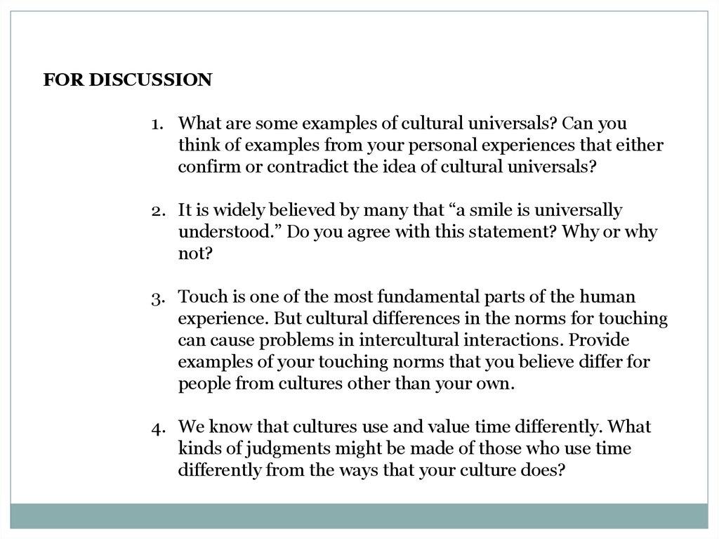 Nonverbal Intercultural Communication Online Presentation