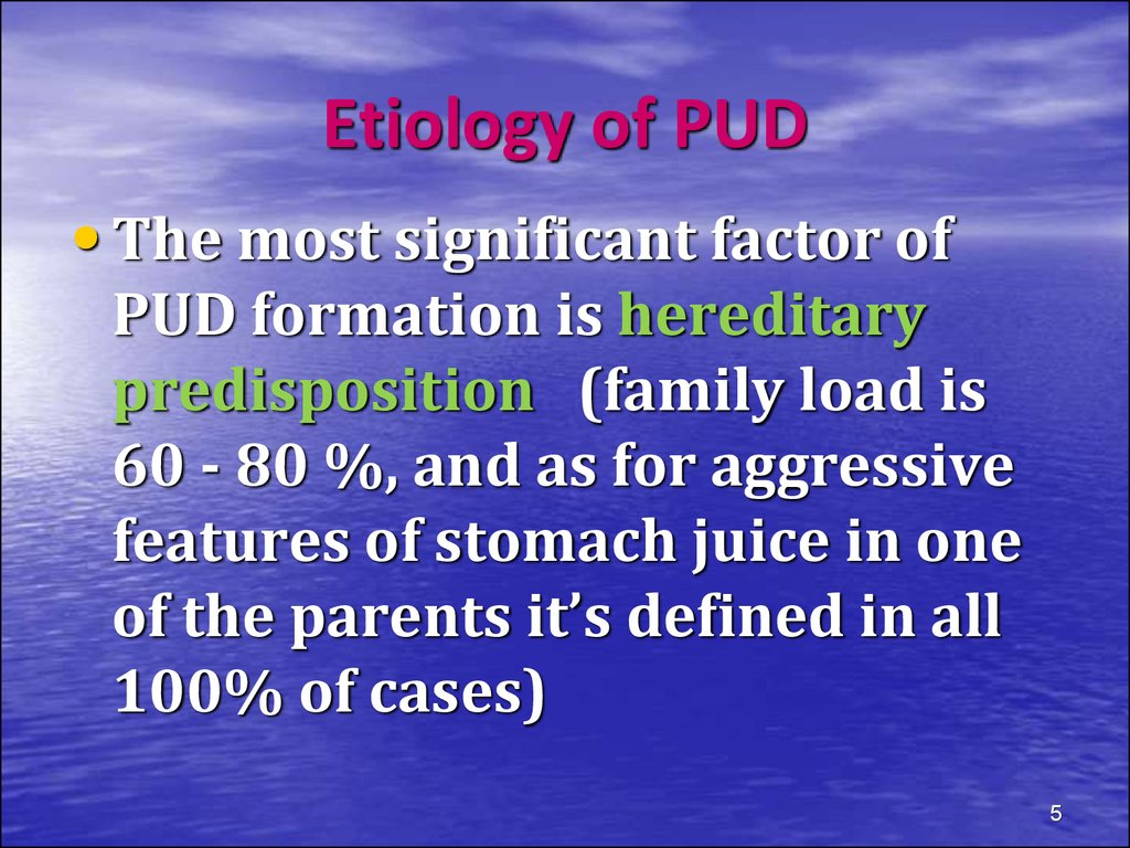 Etiology of PUD