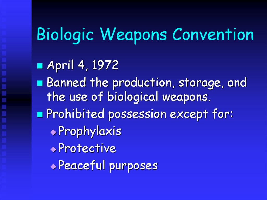 controlling chemical and biological weapons essay