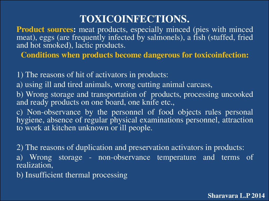 TOXICOINFECTIONS.