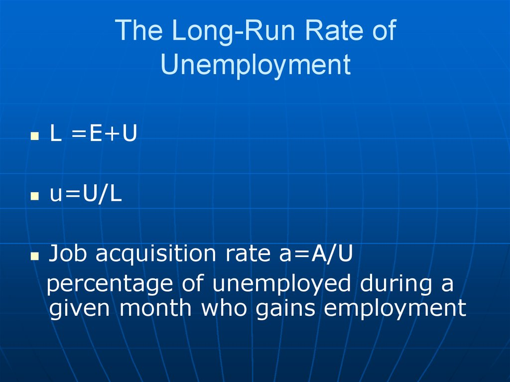 The Long-Run Rate of Unemployment