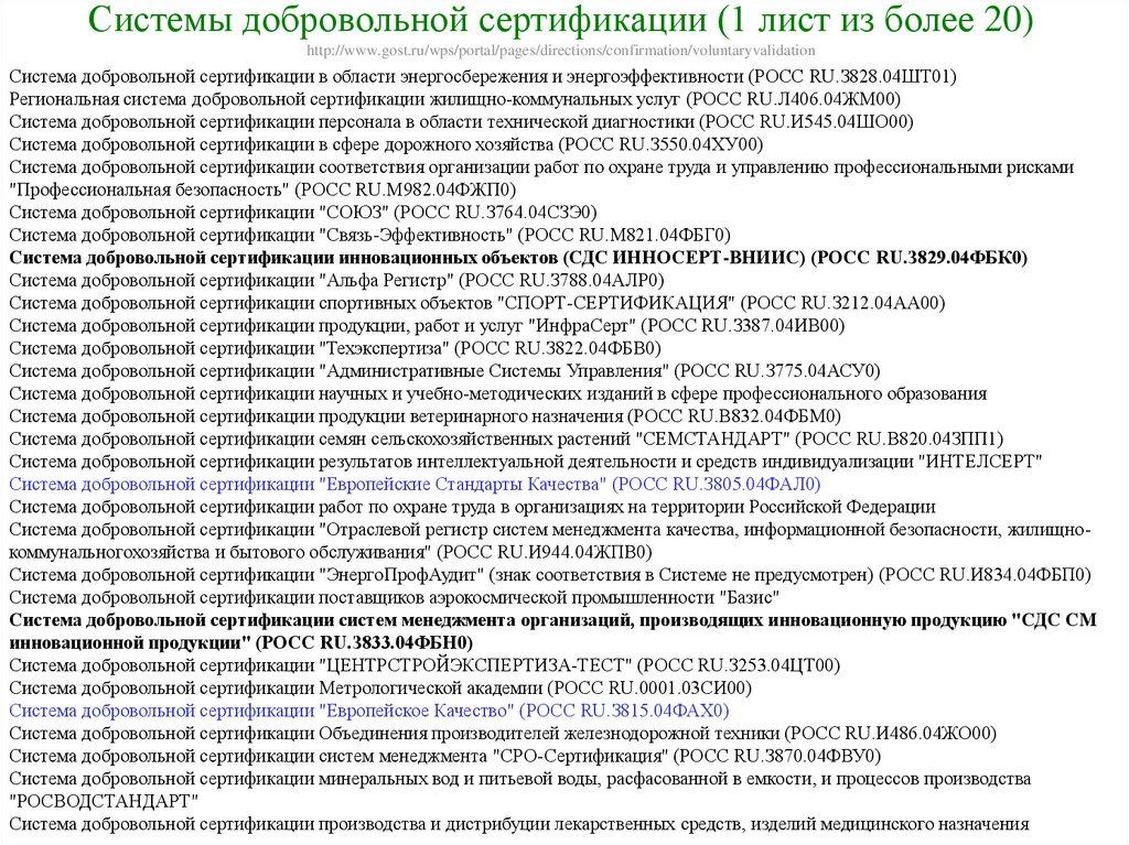Добровольная сертификация продукции din сертификация лесов реферат