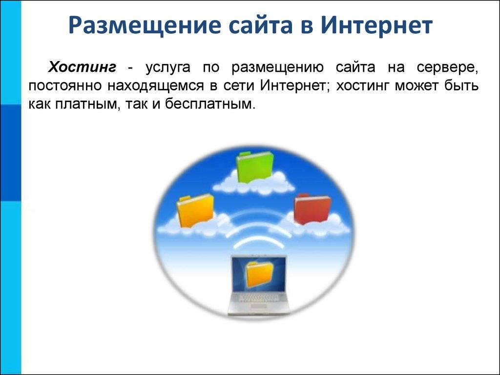 создание и размещение сайтов в интернет