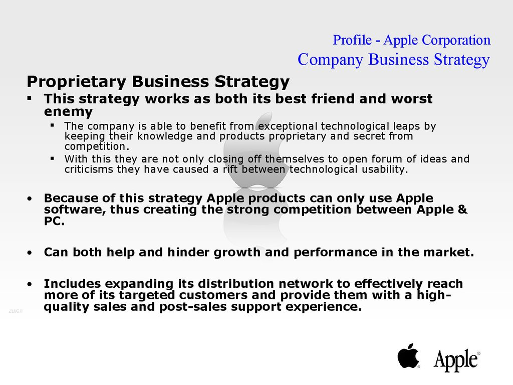 apples corporate strategy On october 23-25, 2018, 3bl forum will once again convene a diverse group of business, policy and ngo leaders to share insights, advance best practices and workshop forward-thinking solutions to.