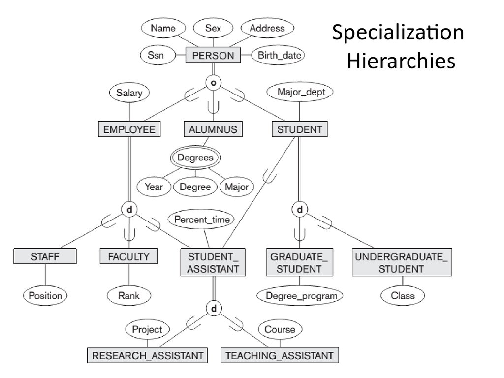 Specialization Hierarchies