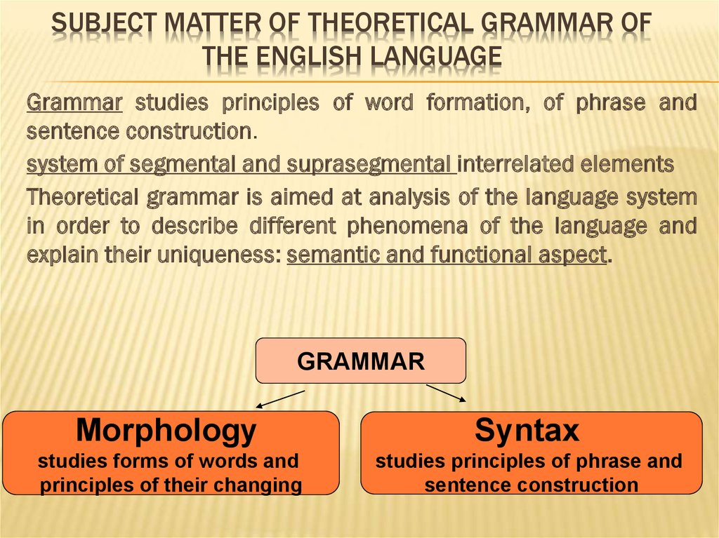 theretical grammar Theoretical sentence examples its discussion may be found in any work on theoretical astronomy ricardo's works, in fact, do not explain a theoretical system, but contain the matured reflections, more or less closely reasoned, of a man of great mental power looking out on the world as it appeared to a business man experienced in affairs.