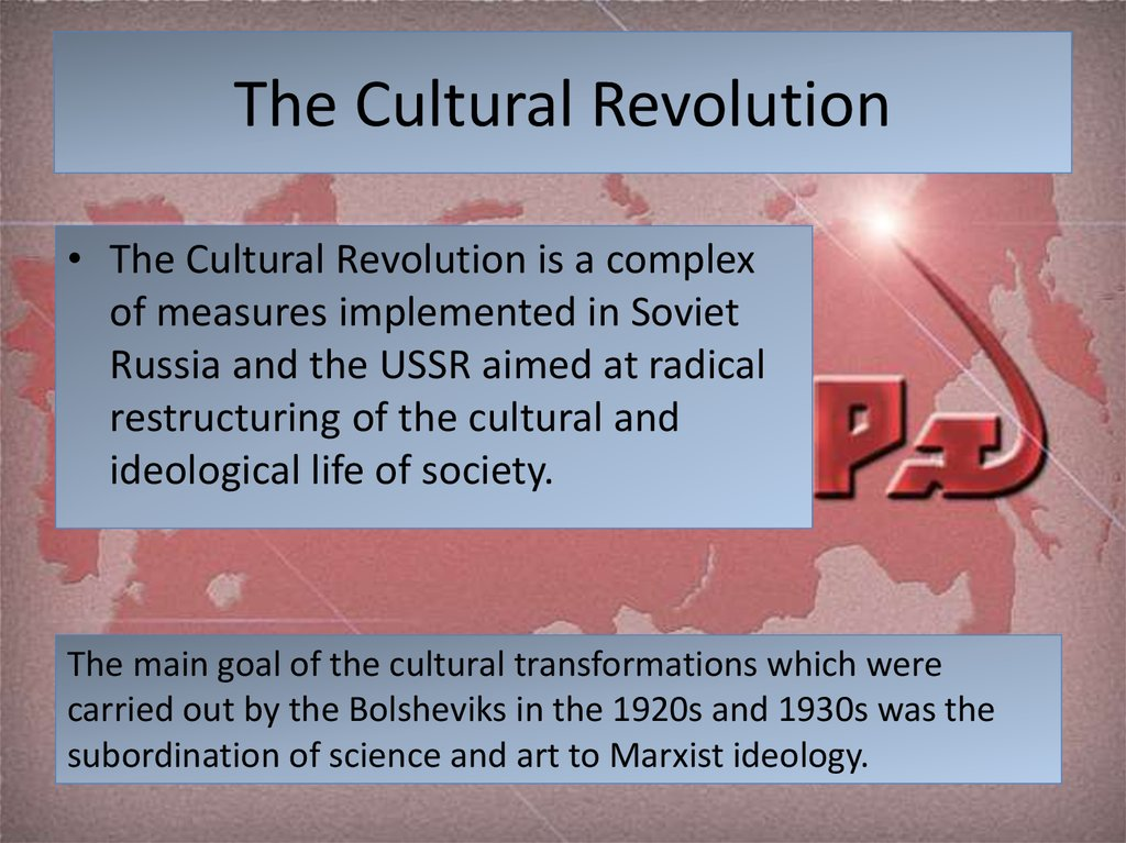 the cultural revolution Find out more about the history of cultural revolution, including videos, interesting articles, pictures, historical features and more get all the facts on historycom.