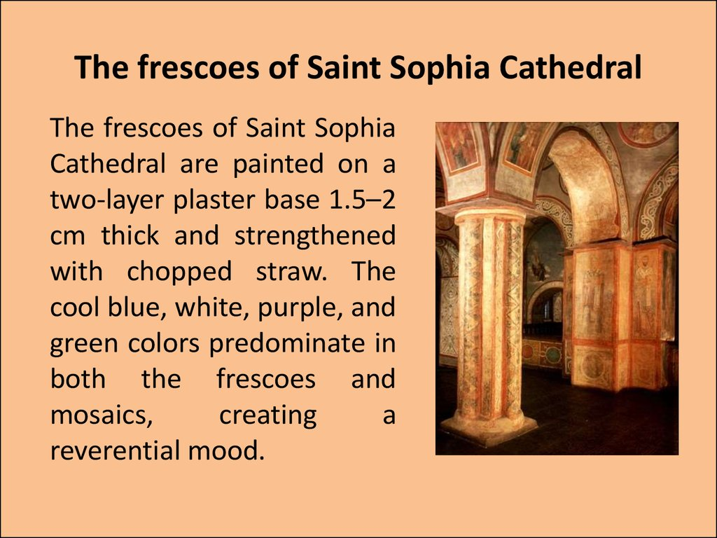 The frescoes of Saint Sophia Cathedral