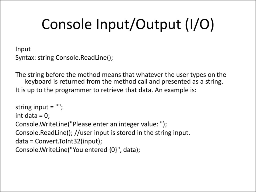 chapter 6 input and output Chapter 5 input and output this chapter describes the general concepts of fortran input and output, and provides details on the different kinds of i/o see also the input/output chapter in the fortran programming guide.