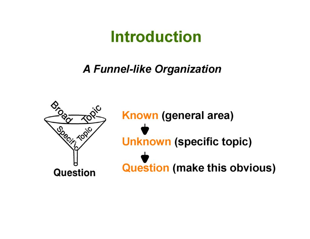how to write a scientific introduction