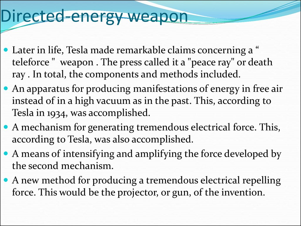 Directed-energy weapon