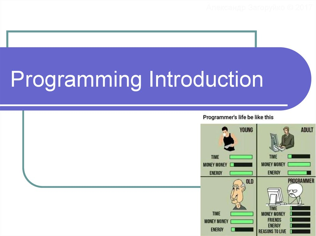 Programming Introduction