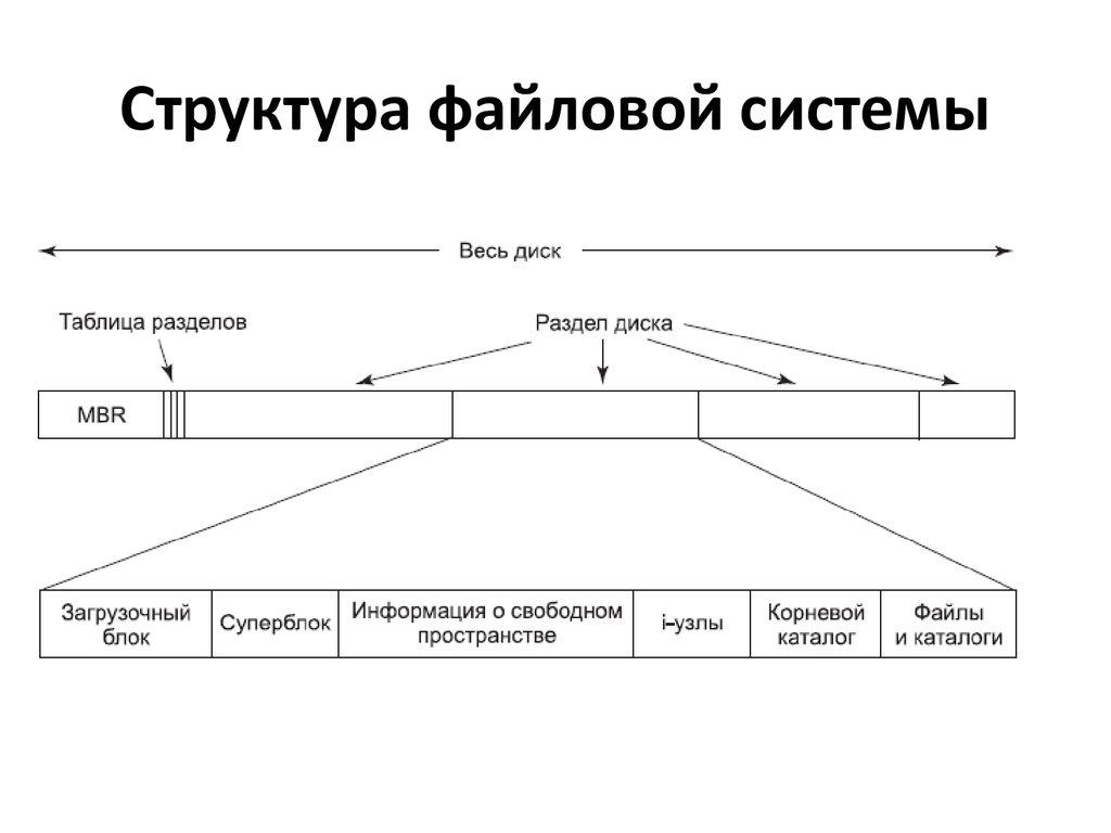 прочистки этих общая структура файловой системы упругие