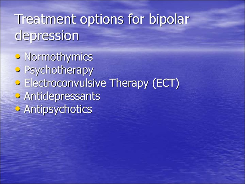 Treatment options for bipolar depression