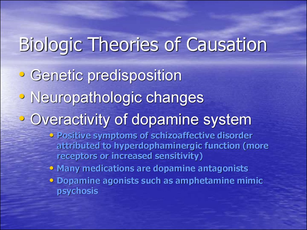 Biologic Theories of Causation