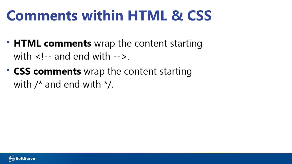Comments within HTML & CSS