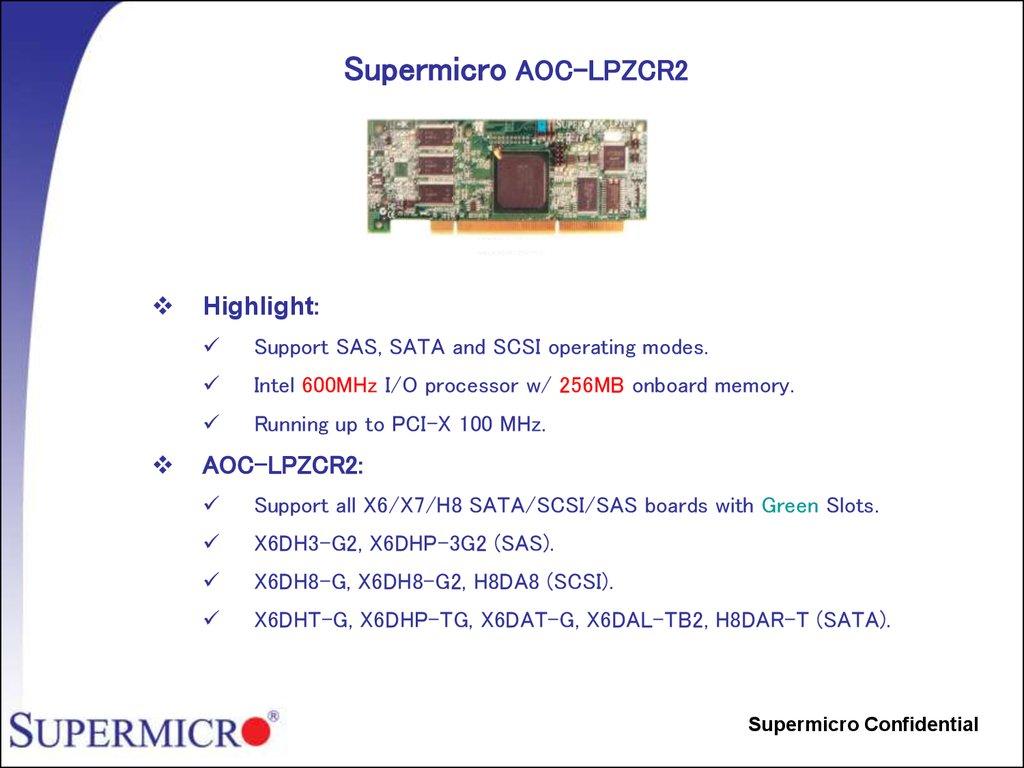 SAS RAID Card SATA Supermicro LPZCR1 All In One SCSI