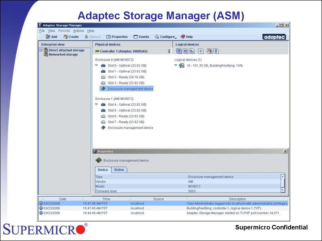 Adaptec Storage Manager (ASM)