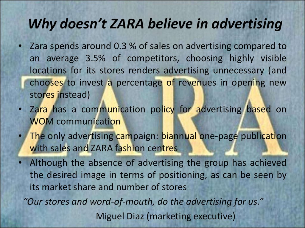 zara operational performance Watch video inditex sa, the world's largest clothing retailer, reined in store expansion plans as the zara owner delves deeper into online shopping as a cheaper way to boost sales growth.