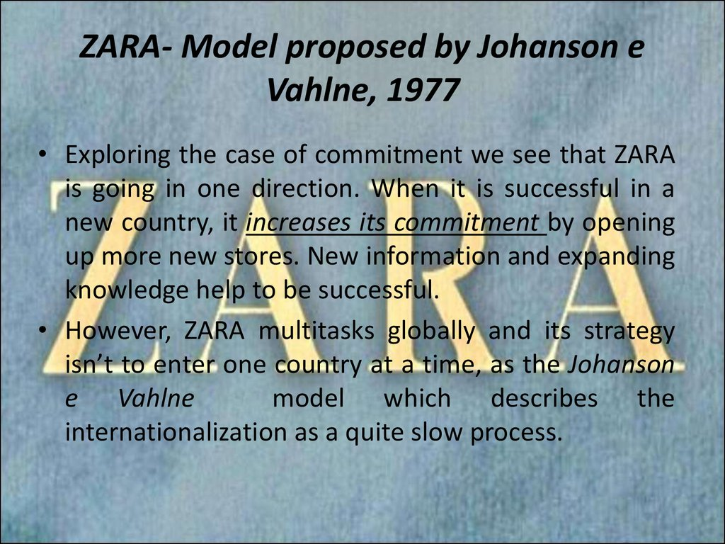 zara - what did we learn? essay Essay sample the case examines zara, or its parent inditex, that has established a super quick response value chain system in closing, i think this is a fabulous case to learn firm analysis it is not an easy case but it is rich one i hope you enjoyed it (i did.