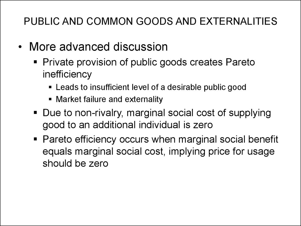 how can public goods be considered market failures