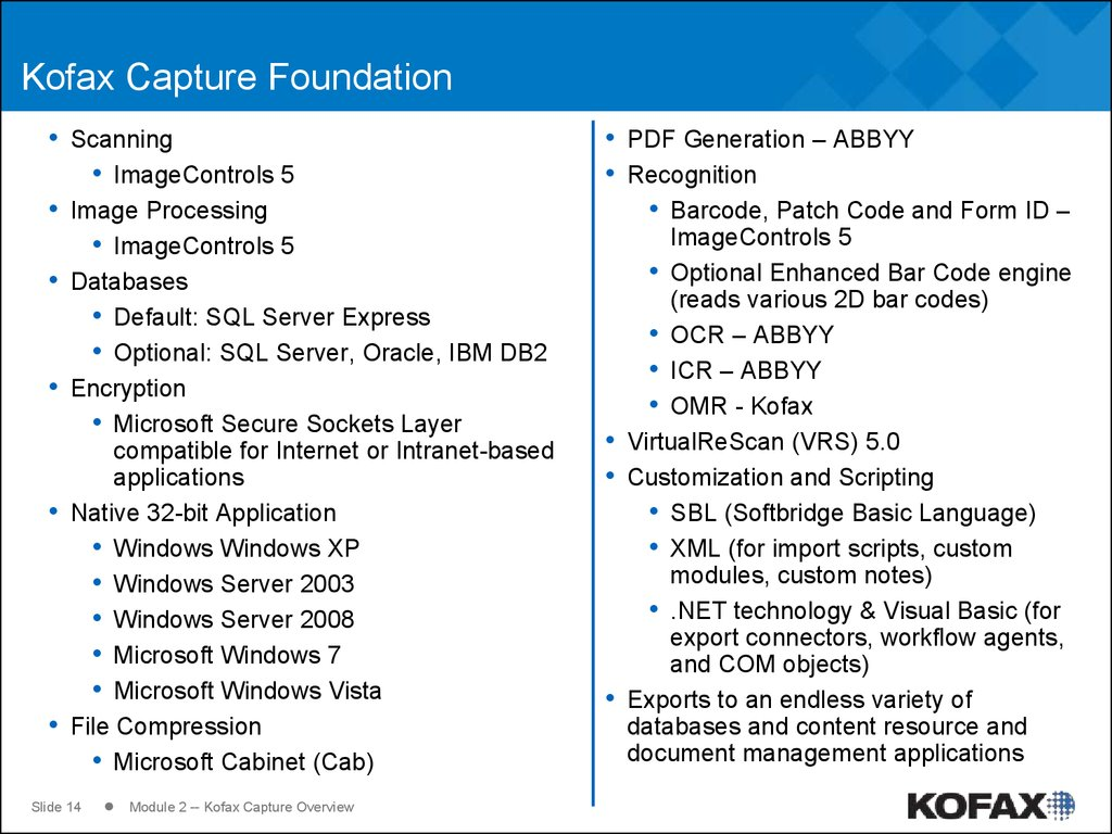 Kofax Capture Foundation
