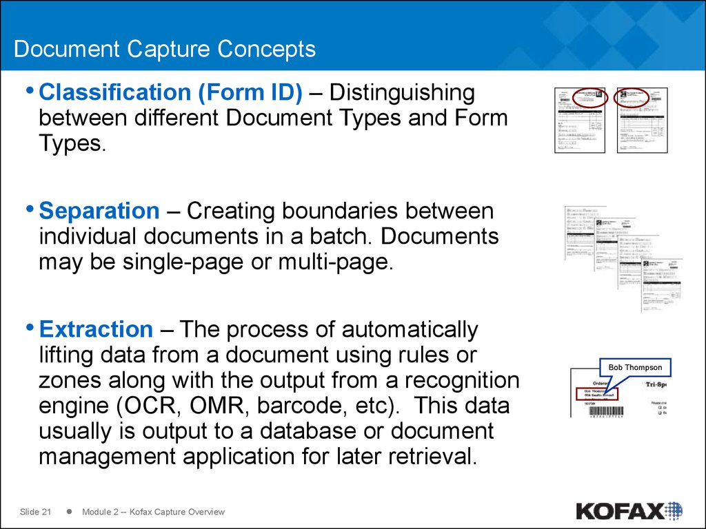 Document Capture Concepts