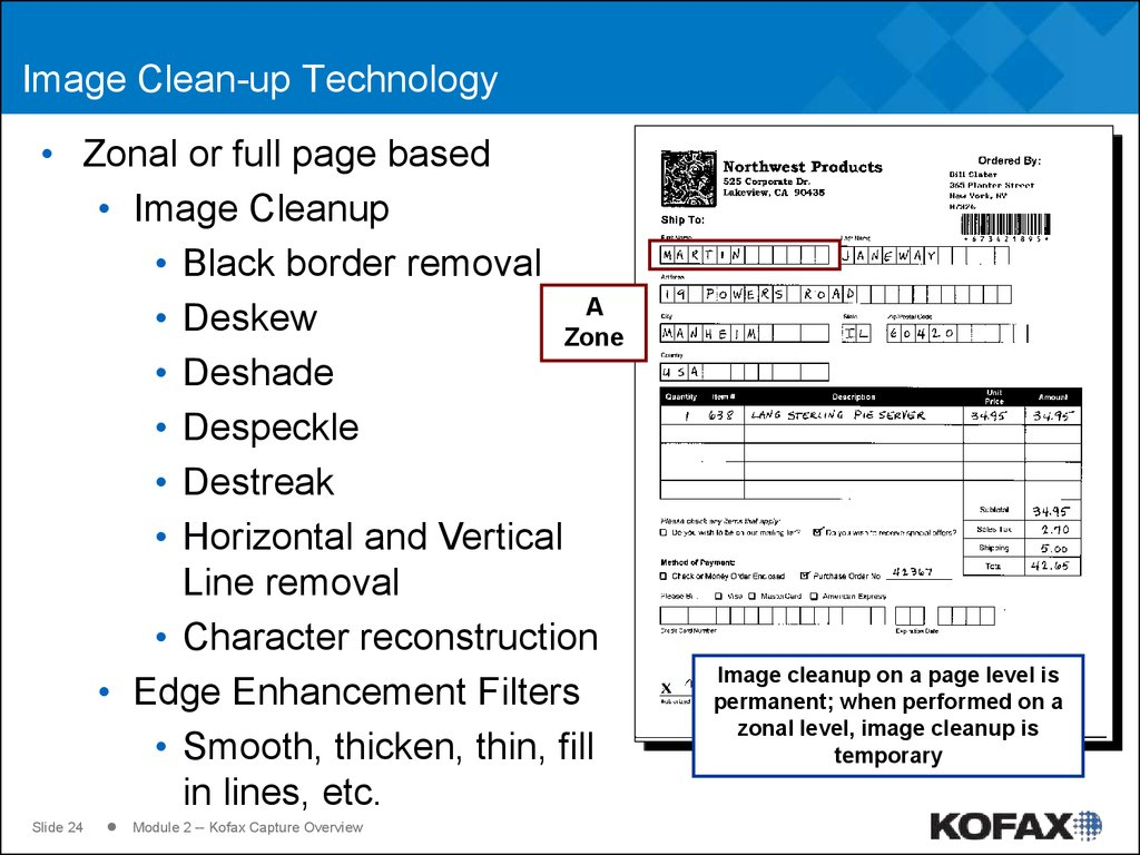 Image Clean-up Technology