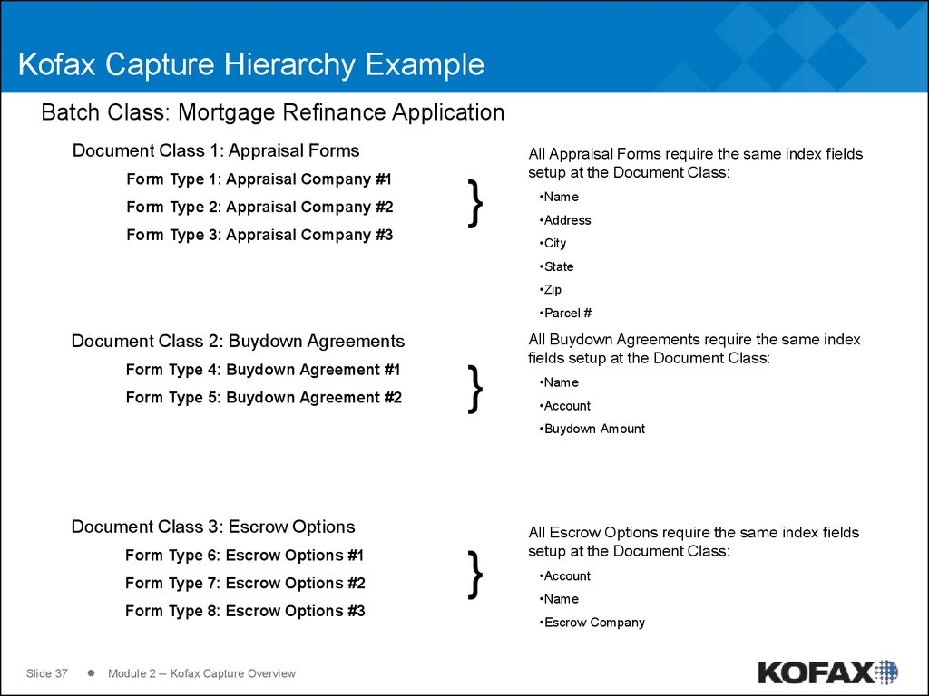 Kofax Capture Hierarchy Example