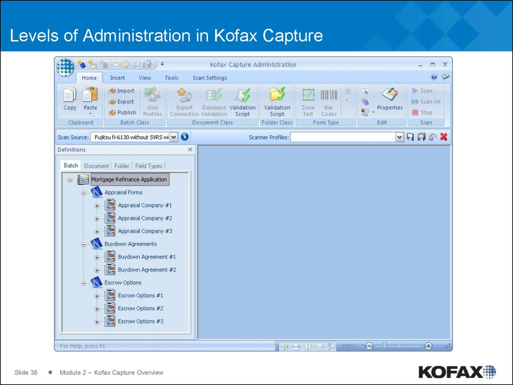 Levels of Administration in Kofax Capture