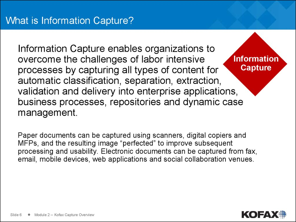 What is Information Capture?
