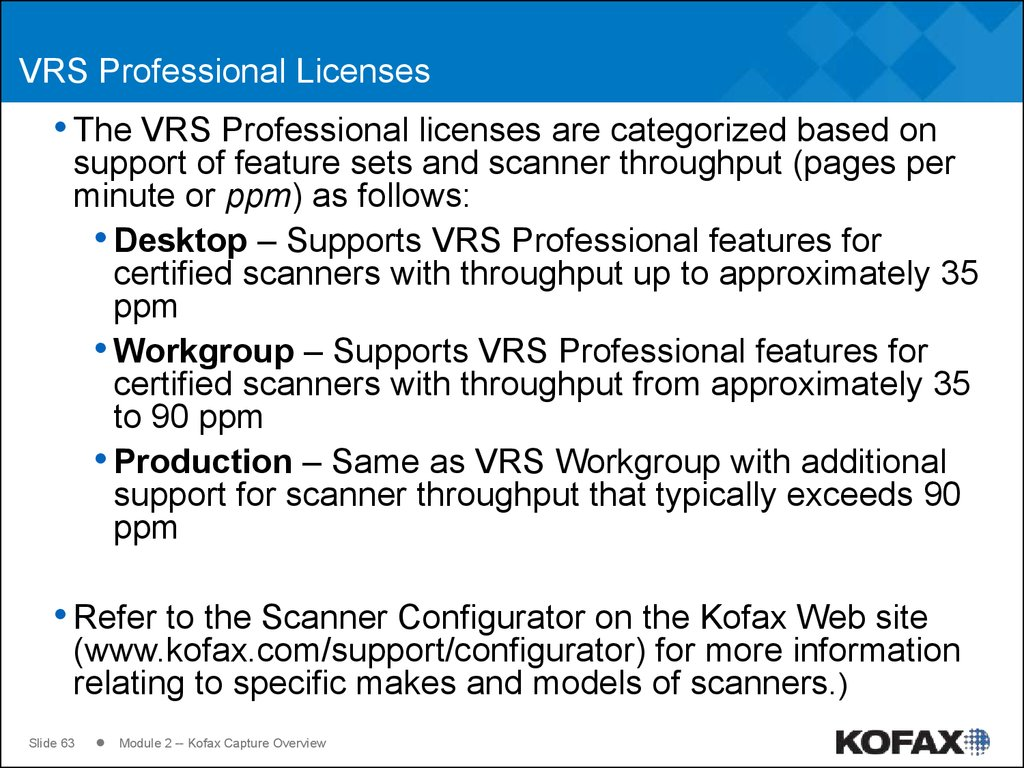 VRS Professional Licenses