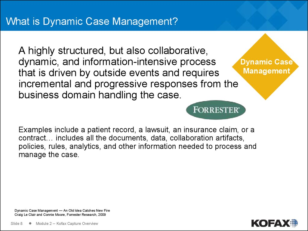 What is Dynamic Case Management?