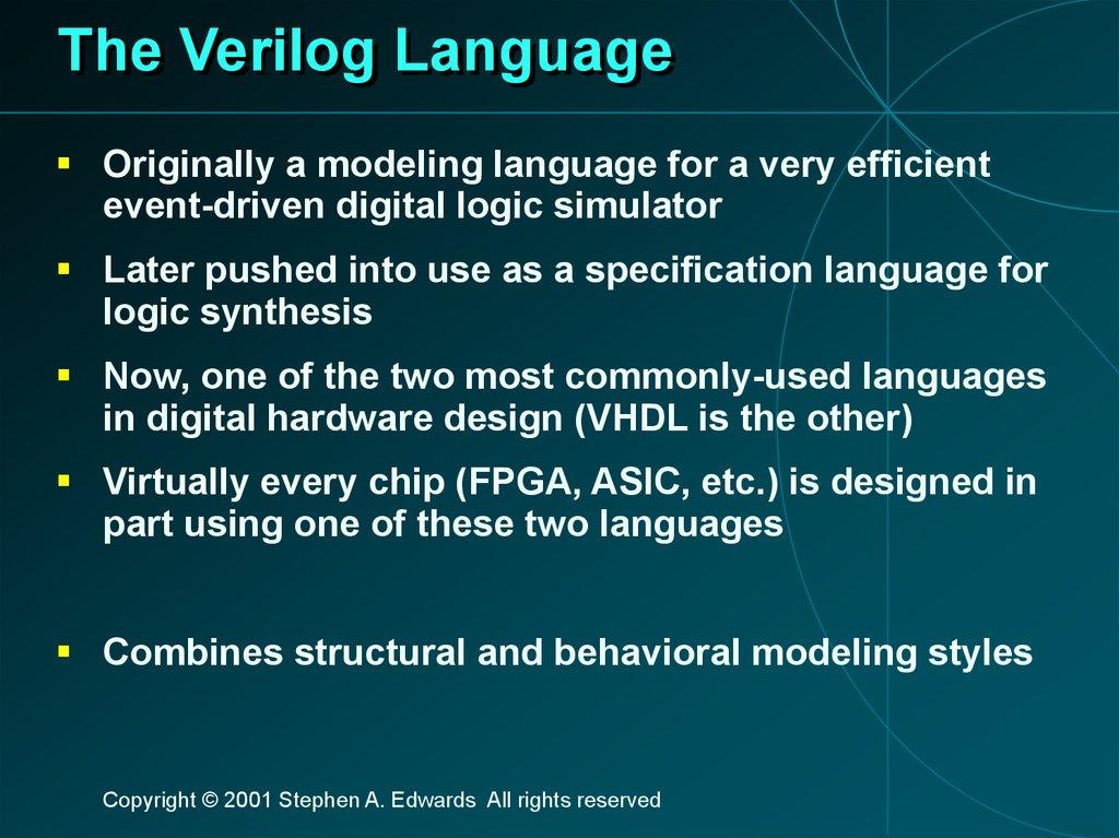 The Verilog Language - online presentation